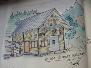 Le refuge Habert d'Aiguebelle dessiné